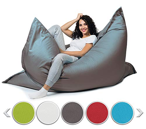 sunnypillow XXL Sitzsack, Riesensitzsack Outdoor & Indoor 180 x 145 cm mit 380L...