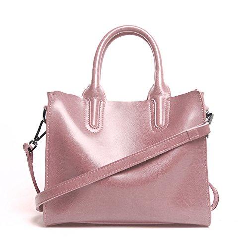 43b5898aaf Leathario Borsa donna pelle vera tracolla rosa spalla a mano eleganti lavoro  vintage cuoio fashion borsone