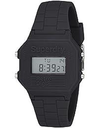 Superdry Retro Digi Digital Black Dial Men's Watch-SYG201B