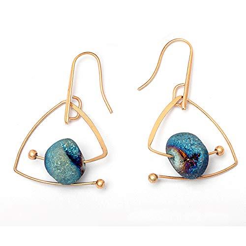 Mioloe orecchini con pietre naturali stellate di design originale