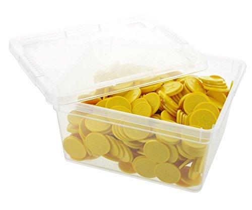 En-Joy Fichas Plasticas Grabadas - Estrella Amarilla