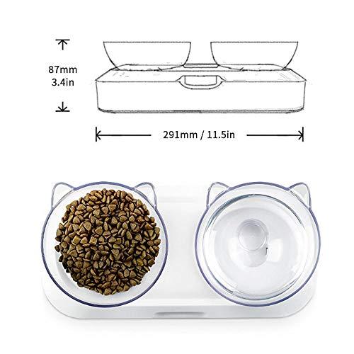 Zoom IMG-2 hamkaw doppio gatto ciotola per