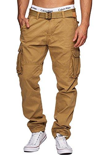 INDICODE William Herren Cargohose Pants inkl. Gürtel Beige XL
