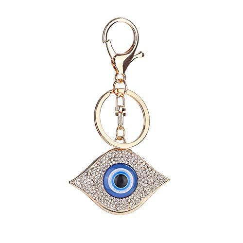 Vektenxi Premium Quality Fashion Blue Evil Eye Strass Anhänger Handtasche Tasche Schlüsselanhänger Amulett Schlüsselanhänger -