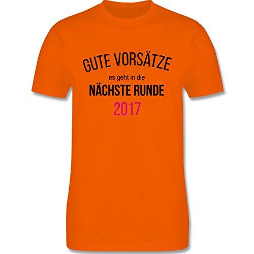 Weihnachten & Silvester - Lustiges Neujahr Motiv - Herren Premium T-Shirt Orange