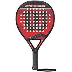 Wilson Carbon Force Paddle Rkt Bkrd - Pala de pádel, color negro / red, talla única