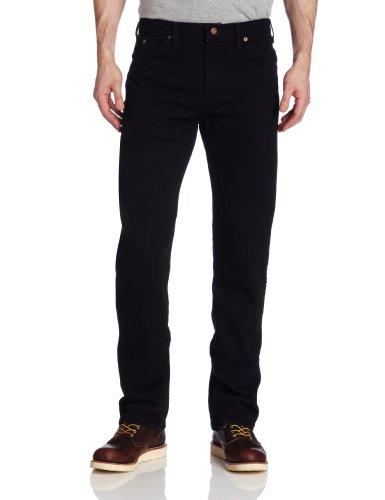 Dickies Herren Regular Fit Six-Pocket Jeans - Schwarz - 38W / 32L (Dickies Schwarz Jeans Herren)