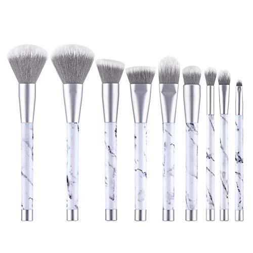 ZQGehu 9 stücke marmor Make-up Pinsel matt Silber für kosmetische Pulver Foundation lidschatten...