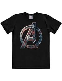 T-shirt Avengers l'Ere d'Ultron logo haute qualité coton noir
