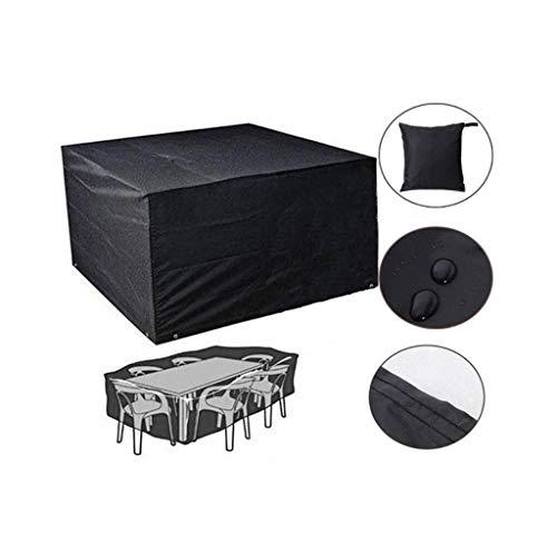 LH-Tarps Möbelbezug Schutzhülle Wasserdichte Outdoor Sofa Abdeckung Markise Balkon (Farbe : SCHWARZ, größe : 126×126×74cm)