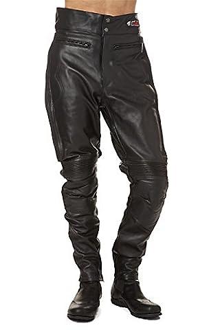 KENROD pantalon de moto pour femme, cuir de haute qualité. Couleur noir. Taille XS.