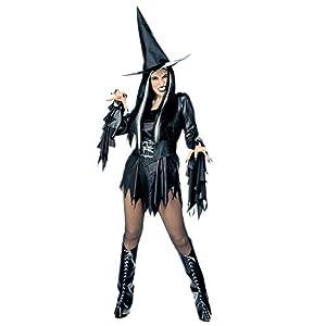 WIDMANN Evil - Disfraz de halloween bruja malvada adultos, talla S (39371)