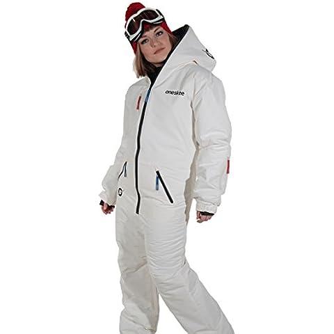 Oneskee Original Bianco M Tute da Sci e Snowboard Composte da Giacca/Pantaloni