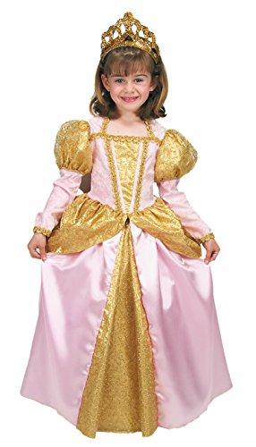 –Königin Kostüm Karnevalskostüm in Umschlag, Rosa und Gold (Joker Kostüme Für Mädchen)