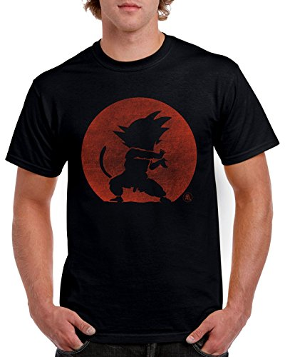 Camiseta Negra Kame Hame Ha - Dragon Ball - Goku
