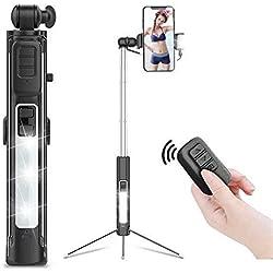 MiniGreen Bluetooth Selfie Stick con Telecomando Senza Fili Staccabile