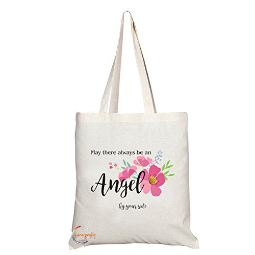 TB002kann es immer ein Engel Novum Geschenk bedruckt Umweltfreundlich Modische lange behandelt Tote Schultertasche