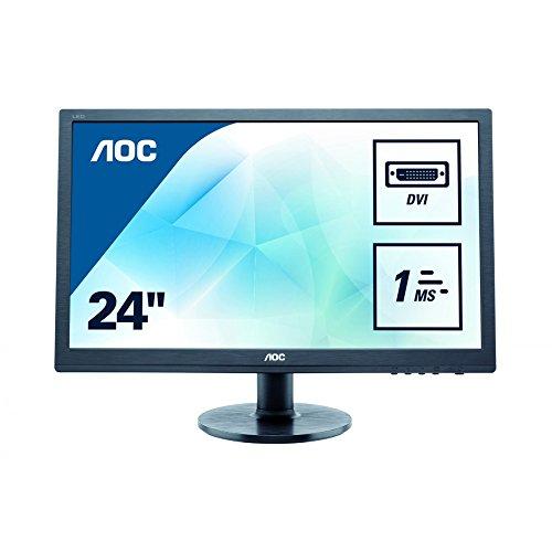 AOC 24 inch LED Monitor, DVI, VGA, Vesa E2460SD2