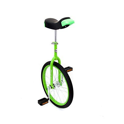 Indy Trainer Kids \'Einrad grün, 50,8cm Zoll Stahl Rahmen, 1Speed Abgerundete Pedale aus Kunststoff ergonomisch geformte Sattel