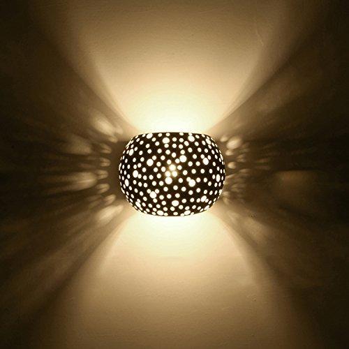 Wandleuchten LED Innen Moderne Wandbeleuchtung Mit 5W LED G9 Cap Typ Natürliche Umweltschutz Gips Material Wandlampe warmweiß