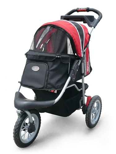 Pet Stroller,IPS-075, Red/Black, Dog Carrier, Trolley, Innopet, Comfort EFA Buggy. Foldable pet buggy, pushchair, pram for dogs and cats.