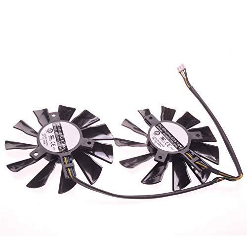 E-Meoly PLD09210S12HH DC Grafikkarten-Ventilator, 86 mm, 40 x 40 mm, für XFX R9-270X R9-280X R9-290X, 2 Stück