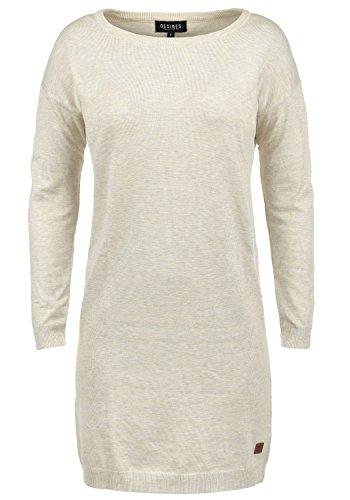 DESIRES Ella Damen Strickkleid Feinstrickkleid Kleid Mit Rundhals, Größe:XXL, Farbe:Oyster Grey (8215)