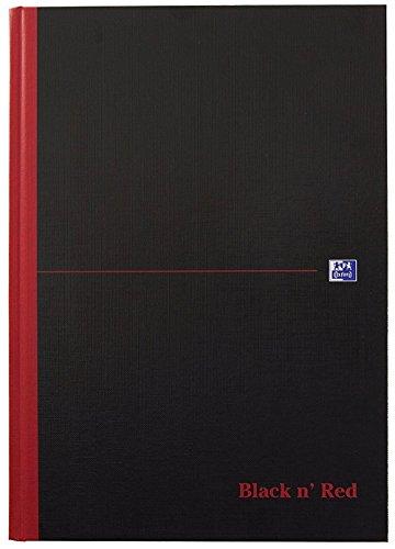 Oxford 400047606 Gebundenes Buch Black n' Red A4 liniert mit Hardcover und Lesezeichenband schwarz/rot Geschäftsbuch Haushaltsbuch Journal