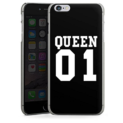 Apple iPhone 6s Hülle Case Handyhülle Queen 01 Königin Pärchen Hard Case anthrazit-klar