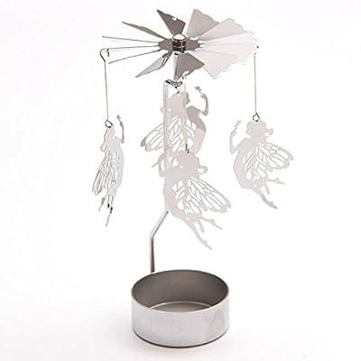 Fairy Tealight Powered Metal Spinning Decoration
