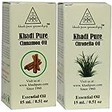 Khadi Pure Cinnamon and Citronella Essential Oil Combo (30ml) Pack 2