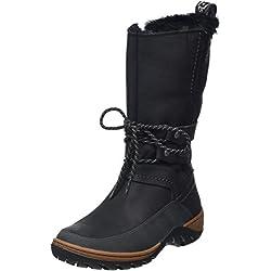 Merrell Sylva Tall Waterproof, Botas de Nieve para Mujer, Negro (Blackblack), 38 EU
