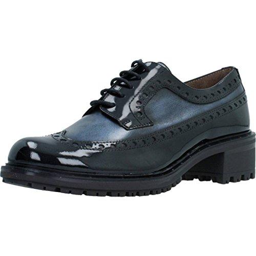 Zapatos Mujer, Color Azul Negro, Marca WONDERS, Modelo