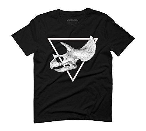 triceratops skull Men's Graphic T-Shirt - Design By Humans Black