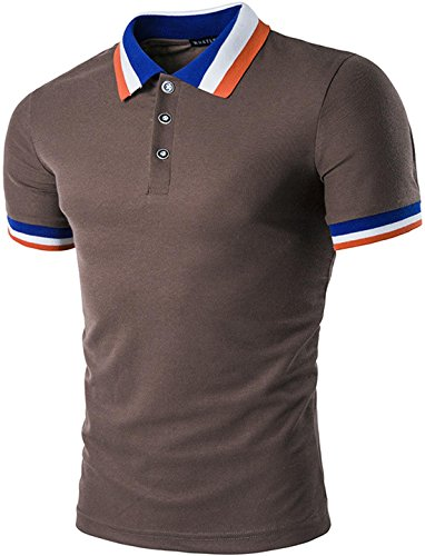 Sportides Herren Poloshirt Coffee