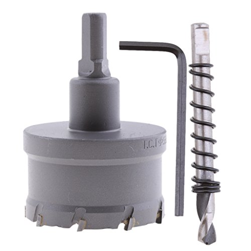 MagiDeal Hartmetallspitze Werkzeug Edelstahl Bohrer Metall Spiegelschneider Lochsäge - 55mm