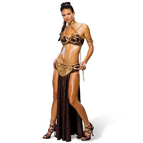 Star Wars Prinzessin Leia 5-tlg. Sci-Fi Damen Kostüm Sklavin lizenziert - XS (Prinzessin Kostüm Leia Wars Star)