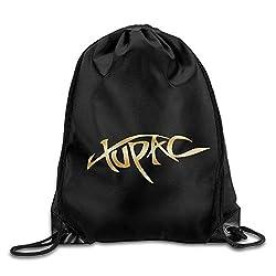 YuYfashions Rucksack mit Kordelzug 2Pac Tupac Gold Logo Drawstring Backpack Bag White
