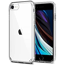 Spigen Ultra Hybrid, Designed for iPhone SE 2020 Case/iPhone 8/7 Case Clear Hard Back Flexible Bumper with Shockproof Air Cushion - Crystal Clear