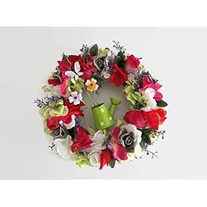 Türkranz Blumenkranz Gladiolen1 Stiefmütterchen Blumenkranz Welcome Deko Blumenkranz Deko Kranz Türkranz Wandkranz Wandschmuck Tischschmuck Blumendekoration