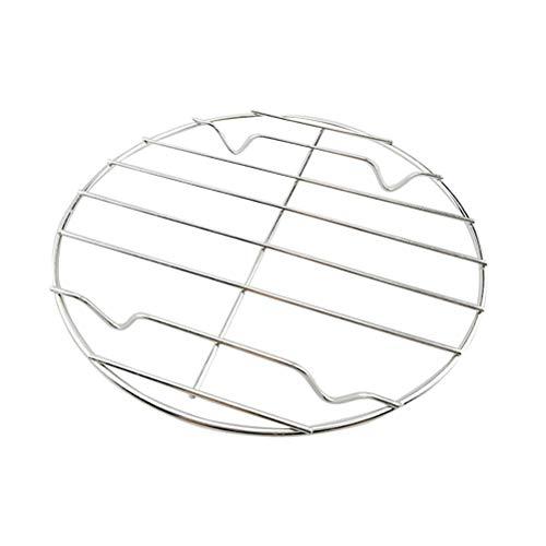 Besonzon Edelstahl-Dämpfgestell mit Ständer für Luftfritteuse, Sofort-Topf, Schnellkochtopf, Konservierungsrost 20 cm silber (Topf, Und Topf Schnellkochtopf)