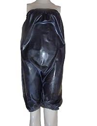 Caoutchouc Combi / All-in-One / haut culotte bouffante en noir (Latex / Silicone Mix) taille XXL/XXXL