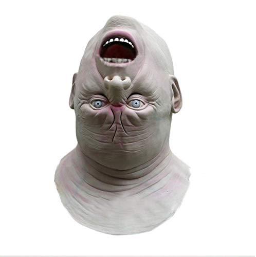 JIAENY Halloween-Maske,Halloween Maske Mask Neue Erwachsene Zombie Masken Latex Blutig Scary Alien Teufel Vollmasken Kostüm Party Cosplay (Raum Alien Kostüm)