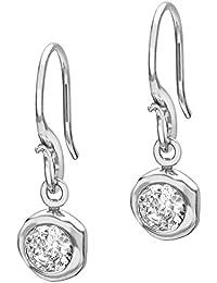 Dower & Hall Dewdrop 5mm White Topaz Beaten Nugget Drop Earrings