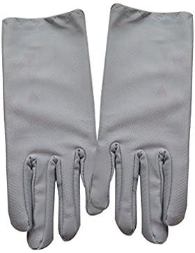 Gespout Guantes Boda Novia Dedos Cortos Paño Guantes Vestido Mujer Niñas Fiesta Boda Masquerade Gloves Delgado...