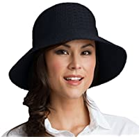 Coolibar Camiseta de Marina Sun Hat–Talla única, color negro