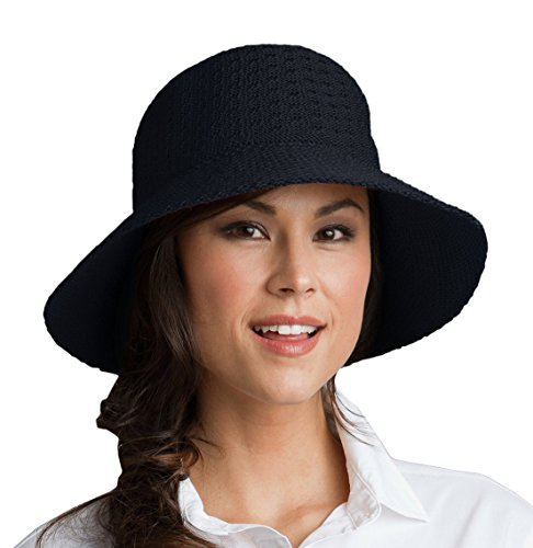 Coolibar Damen Sonnenhut UV Schutzfaktor 50 Plus, schwarz, OneSize, 02269-001/99