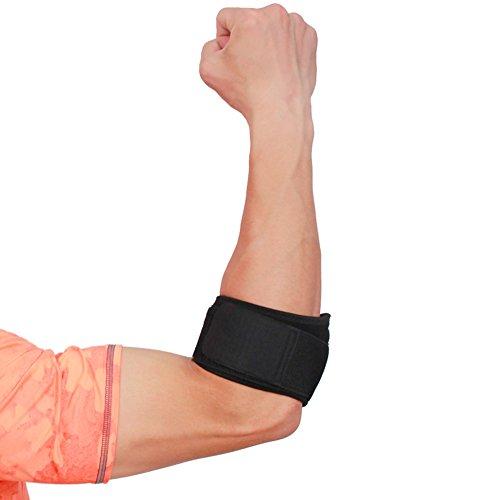 Codo Anera transpirable neopreno codo apoyo fácil ajustable Wrap para la recuperación de lesiones tenis y codo de golfista de alivio del dolor con almohadilla de compresión