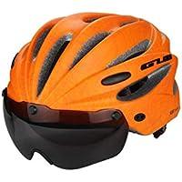 chenyu - Casco de Ciclismo Desmontable magnético Visera Gafas Ajustables ultraligeras Unisex Carretera montaña Hombre Mujer