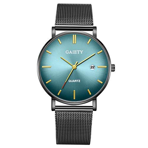 Quartz Uhren für Herren, Skxinn Herrenuhren,Männer Business Fashion Modisch Analoge Armbanduhren mit Edelstahl Mesh-Gürtelband, Ausverkauf(I) -